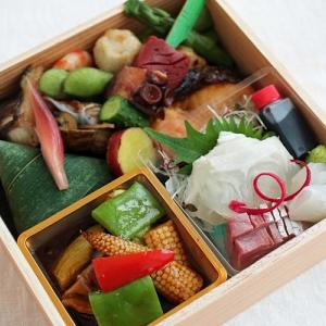 父の日の弁当と日本酒