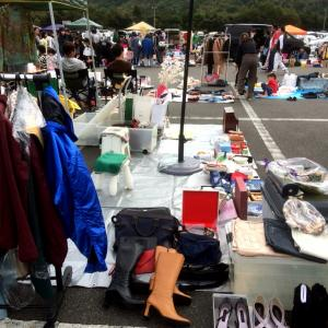福知山市プラント3でフリーマーケット