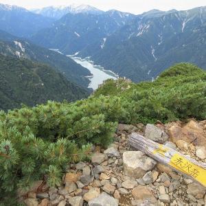 中部山岳 針ノ木岳を越えて Day2 赤沢岳から新越乗越を越えて種池へ     Mount Akazawa in Chūbu-Sangaku National Park