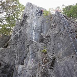 奥武蔵の岩場訪問 小川町腰越の立岩     Rock Climbing at Tatsuiwa in Ogawa, Saitama
