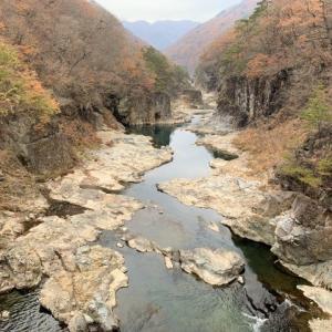 日光 紅葉ハイキング in 鬼怒川龍王峡 滝と奇岩と紅葉のピカイチ渓谷     Ryuokyo in Nikkō National Park