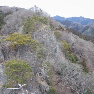 秩父市 5つの岩峰を越えて登る金岳と粟野山     Kanetake & Mount Awano in Chichibu, Saitama