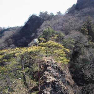 下仁田町 早春の西上州は藤山から岩山へのシビれるナイフリッジではじまった     Mount Fuji in Shimonita, Gunma