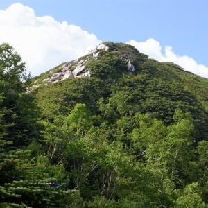中部山岳 餓鬼岳見参 悪路の白沢から餓鬼岳へ     Mount Gaki in Chūbu-Sangaku National Park