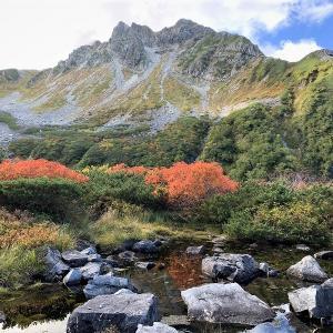 中部山岳 北穂池を訪ねる山旅 横尾本谷左俣から北穂池へ     Mount Kitahotaka in Chūbu-Sangaku National Park