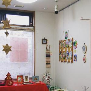 """手仕事展最終日 12/16(月)  手づくりの""""冬のおくりもの""""を展示・販売しています。"""