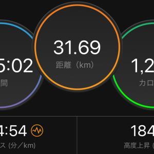 2時間35分走る練習