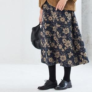 ゴブラン織り花柄スカートは意外と出番が多そう