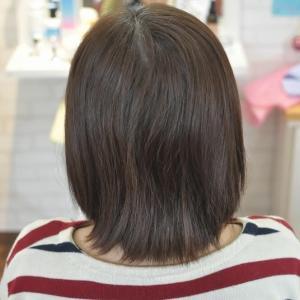 縮毛矯正半年分リタッチとくすまない白髪染めで艶っさら