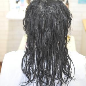 縮毛矯正かけてる毛にデジパーで軽やかに〜〜