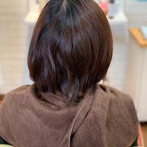 縮毛矯正と白髪染め同日施術