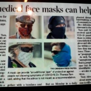 マスクの効用は?(COVID-19)