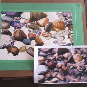 水彩画・石を描く/おはぎ作り、そして今日のトロントは。