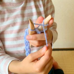 *幼児も一緒に【楽しいやさしい編みもの】
