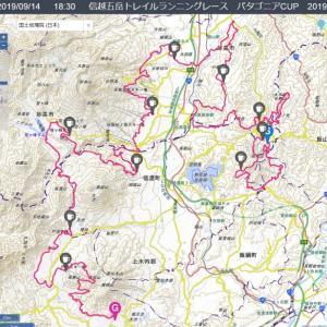 信越五岳トレイルランニングレース パタゴニアCUP 2019 100マイル GPS計測記録