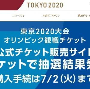 東京2020オリンピックチケット抽選結果は当選ゼロ!