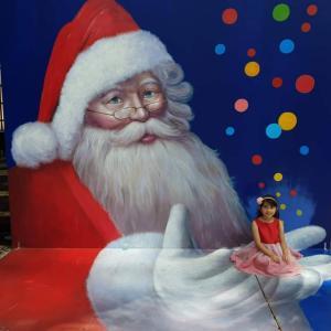 クリスマスのトリックアート