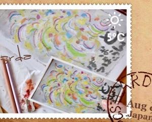 8月の絵手紙〜♪