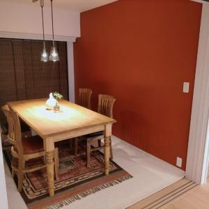 娘宅……オレンジの壁✨海外インテリアのよう✨