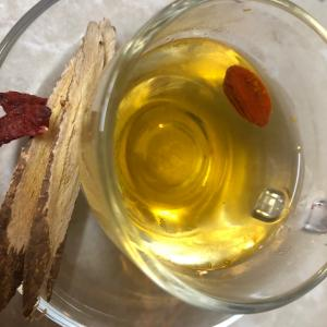 薬膳茶を飲みながら春待ち