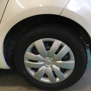 スタッドレスタイヤに交換。