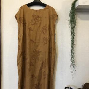 セモア☆ペーズリー刺繍のフレンチスリーブの麻のチュニック毎回人気です^ ^