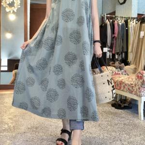 ニャンコドットのサマードレスもラスト一点❗️リーズナブルで可愛いから〜