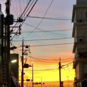 屋富祖三丁目の夕陽