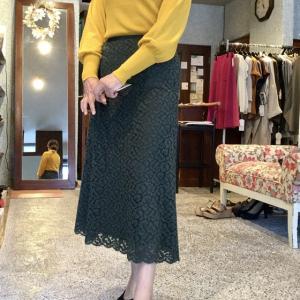 ルイ・シャンタン☆レースのAラインスカート は女性の憧れですね^ ^
