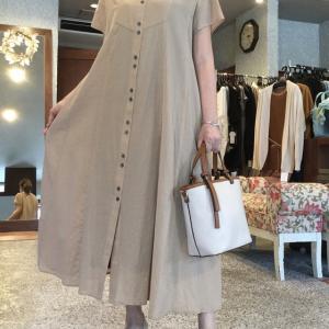 bellus closet☆羽織りにもなる前開きのワンピース 軽い着心地が最高です。