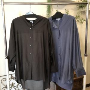 ポーシャル☆コットンシルクの上質なシャツ控えめな光沢が素敵です。