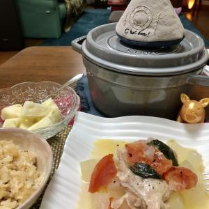 日曜日の家ご飯〜今夜もストウブ鍋でヘルシー❓