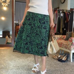 coomb☆後ろ裾オーガンジーのジャガード織りのスカート半額でどうぞ〜