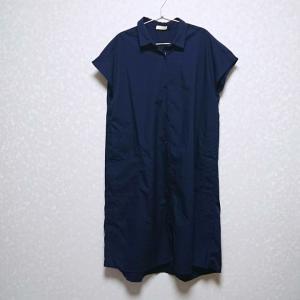 【50代ファッション】アースミュージック&エコロジー★Iラインシャツワンピース♪