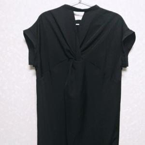 【50代ファッション】黒色の服★夏服購入記!リシェグラマーのロング丈バックツイストワンピース♪