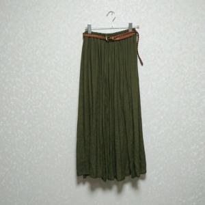 【50代主婦ファッション+着画】夏服購入記!オリーブ・デ・オリーブ★カーキ色のスラブスカート♪