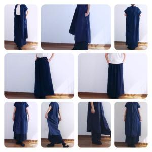 【50代ファッション】着画★ジーユー(GU)Tシャツ&ワンピース&ワイドパンツをあわせたコーデ♪
