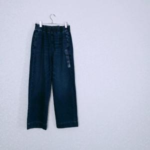 【50代主婦ファッション】大人カジュアルにもってこい☆デニムのワイドパンツ♪