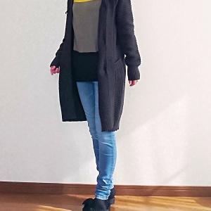 【50代主婦ファッション】秋じゃなくてもう冬!?最近の普段着コーデ着画♪
