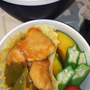 鶏むね肉のケチャップ煮弁当