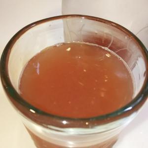 リンゴのシロップ炭酸割り