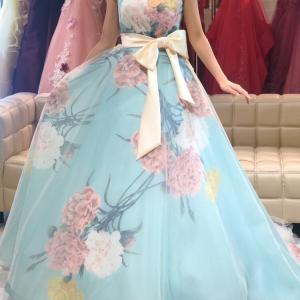 新作カラードレスはグレースコンチネンタルの爽やかミントグリーン♡