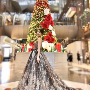 今年の巨大クリスマスツリーは、、、ホテル阪急インターナショナル