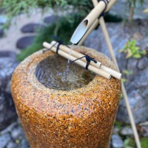 近江八幡 京料理宮前さんで芸術的な盆石とお料理をいただきました。