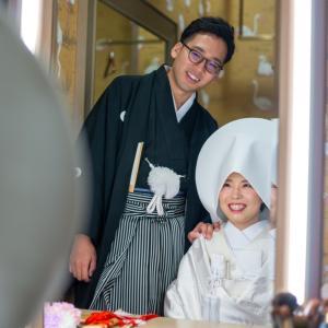 伝統的な婚礼衣装♡白無垢で神社婚