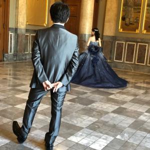 洋装カラードレス 前撮りロケーションフォト  in  大阪 中之島 中央公会堂