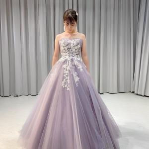 ラベンダーのカラードレス