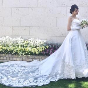 チャペルウェディングにおススメ&二の腕カバーのウエディングドレス♡