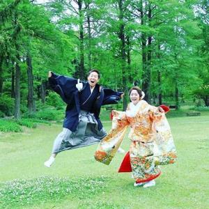 和装ロケーション前撮り♬大阪 北摂のナチュラルな自然の中でフォトウエディング♡