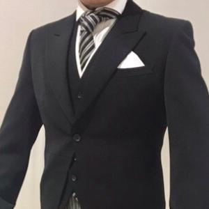 夏の結婚式 お父様のサマーモーニングコート 夏用礼服